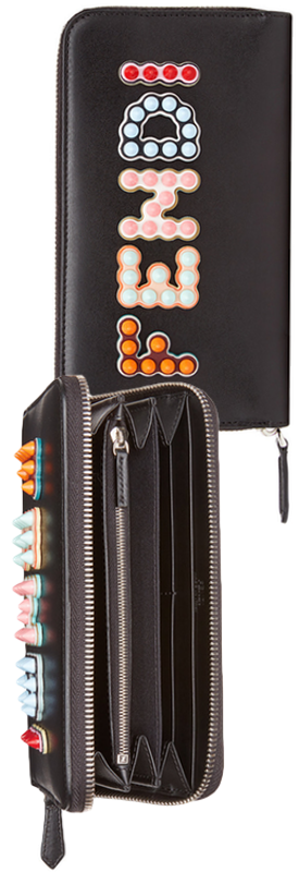 Fendi Fun Fair Leather Wallet on a Chain
