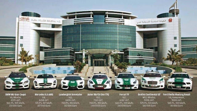 Foto mobil polisi Kota Dubai yang Bakal Bikin Kamu Ternganga