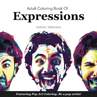 Adult Coloring Book Of Expressions