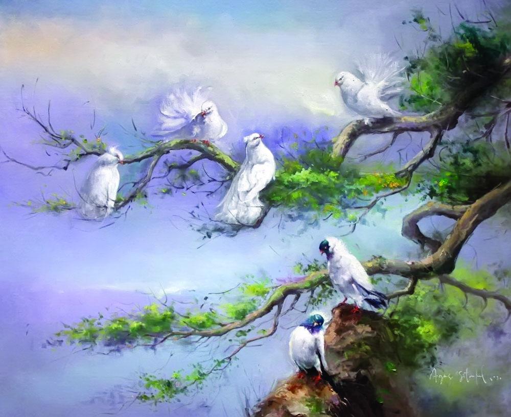 Lukisan Flora Dan Fauna Agus Sitompul