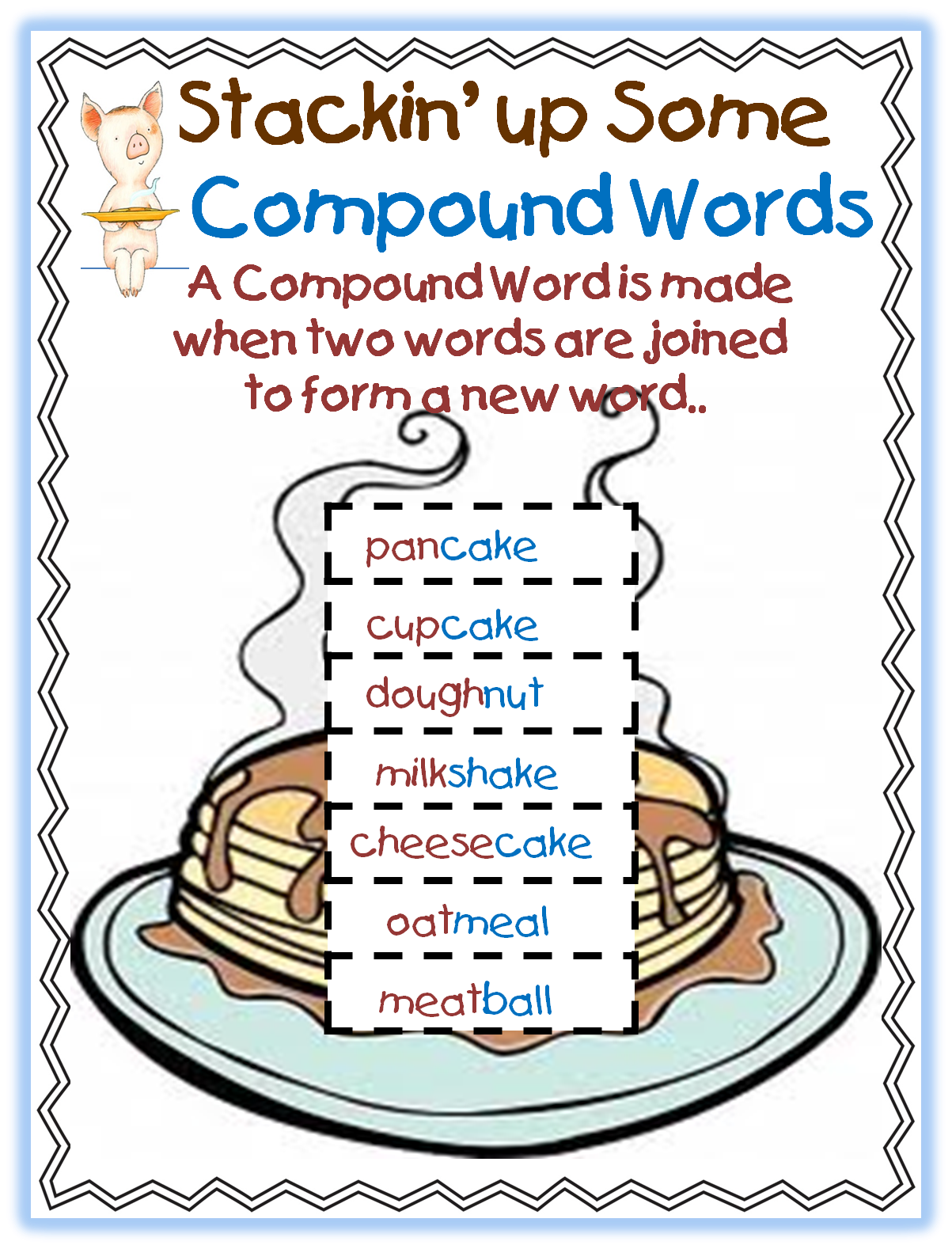 First Grade Wow Flippin The Flapjacks And Compound Words