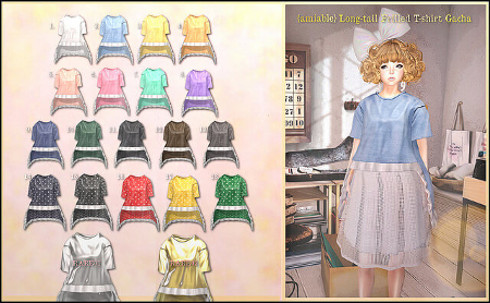 5c637e1c6 amiable Long-Tail Frilled T-Shirt Gacha   the Kawaii Project ...