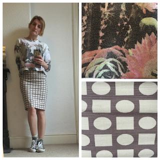 Boden skirt and Zara Sweatshirt
