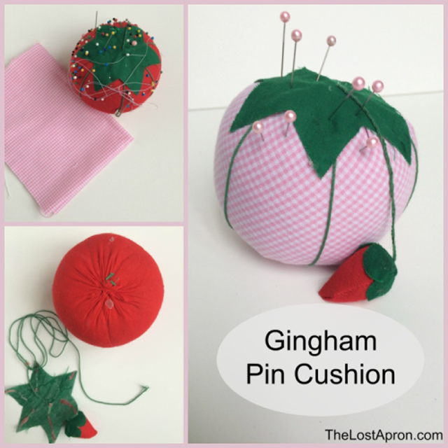 Give an existing pincushion a new look. Pincushion makeover. Tutorial by The Lost Apron