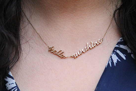 Hello Sunshine Kate Spade Say Yes Necklace