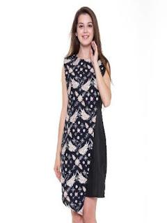desain baju batik wanita modern terbaru