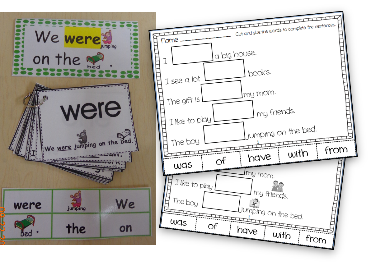 Who S Who And Who S New Interactive Sight Word Flashcards And More Fun Sight Word Stuff