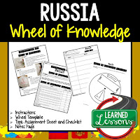 Russia Activity, World Geography Activity, World Geography Interactive Notebook, World Geography Wheel of Knowledge (Interactive Notebook)