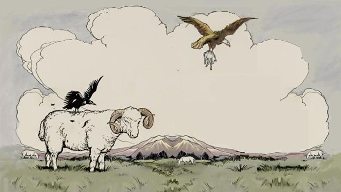 L'aquila e la cornacchia - Esopo