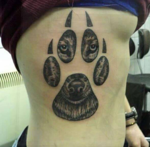 Wolf paw Tattoos