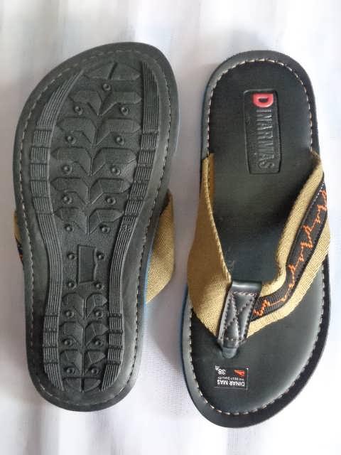 Sandal Spon Dinar MAs Tali belang coklat atas
