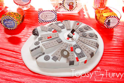Star Wars Millennium Falcon Birthday Cake