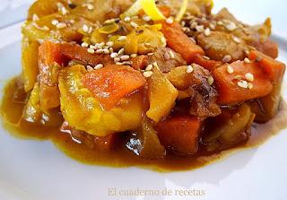 Salteado de verduras al estilo oriental