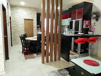 dekorasi rumah dengan sekat minimalis
