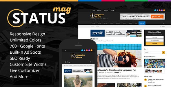 Status Magazine Responsive WordPress Themes