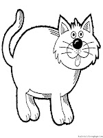 Cat Printable Kids Coloring Pages