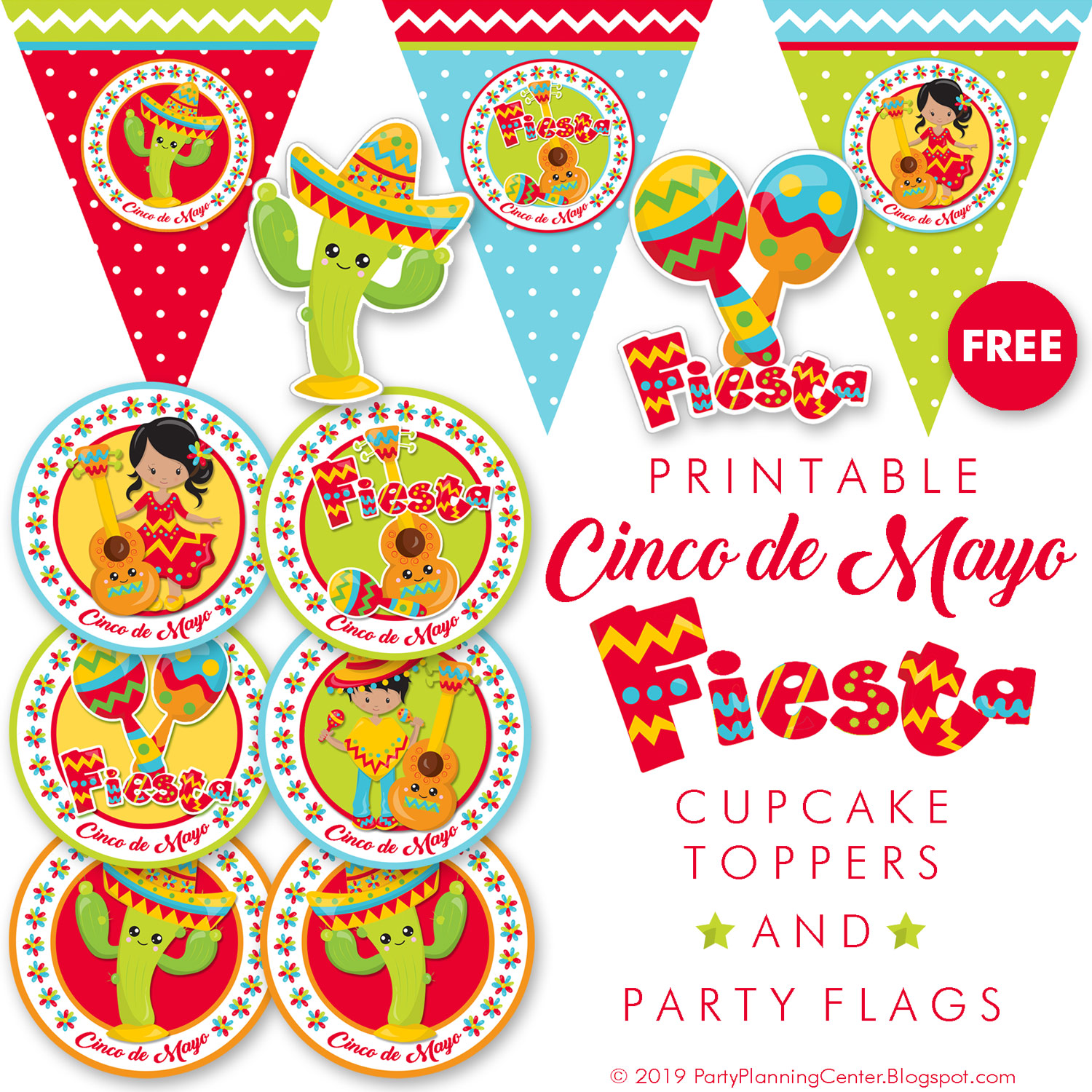 picture regarding Cinco De Mayo Printable Decorations referred to as Celebration Building: Free of charge Mexican Fiesta Occasion Decorations