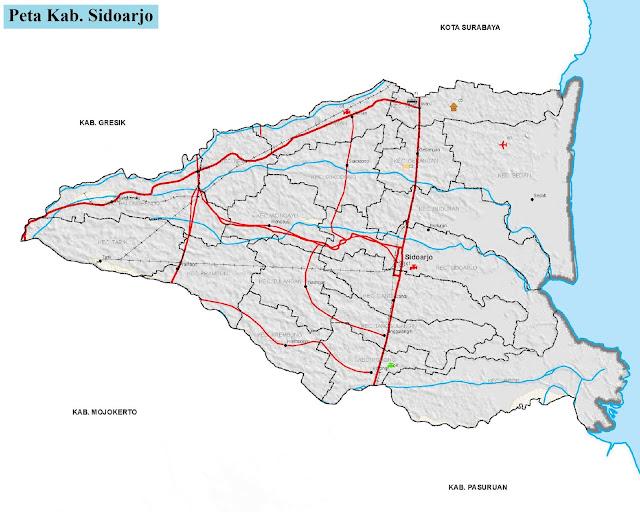 Peta Kabupaten Sidoarjo HD