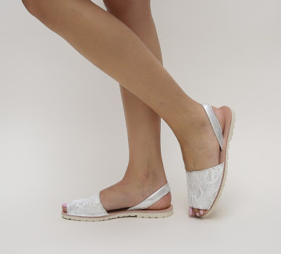 sandale ieftine albe de vara