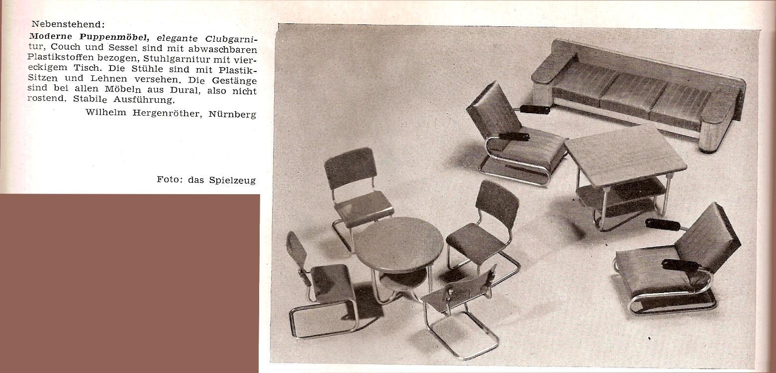 Diepuppenstubensammlerin metallm bel metal furniture for Metallmobel design