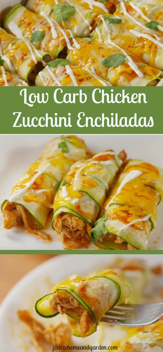 Chicken Zucchini Enchiladas – Low Carb Recipe