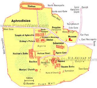 Mapa de Aspendos.