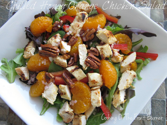 Grilled Honey and Orange Chicken Salad