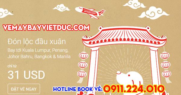 khuyến mãi vé 31 usd đón lọc đầu xuân của Air Asia