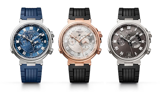 The three variations of the Breguet Marine Alarme Musicale 5547