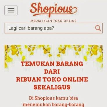 Shopious: cara mudah berbelanja online