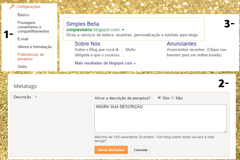 Como inserir metatags no blogger