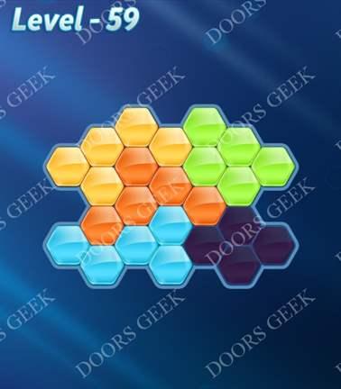 Block! Hexa Puzzle [5 Mania] Level 59 Solution, Cheats, Walkthrough for android, iphone, ipad, ipod
