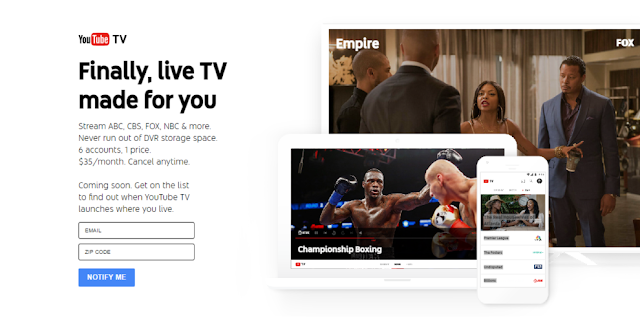 YouTube Live TV Streaming Service