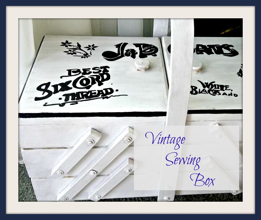 Vintage, Paint and more... vintage sewing box upcycle with chalk paint and stenciling
