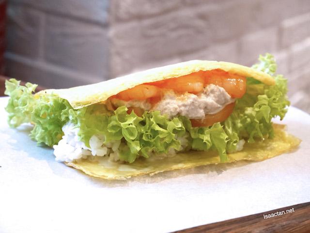Shrimp & Tuna Omu Wrap - RM15