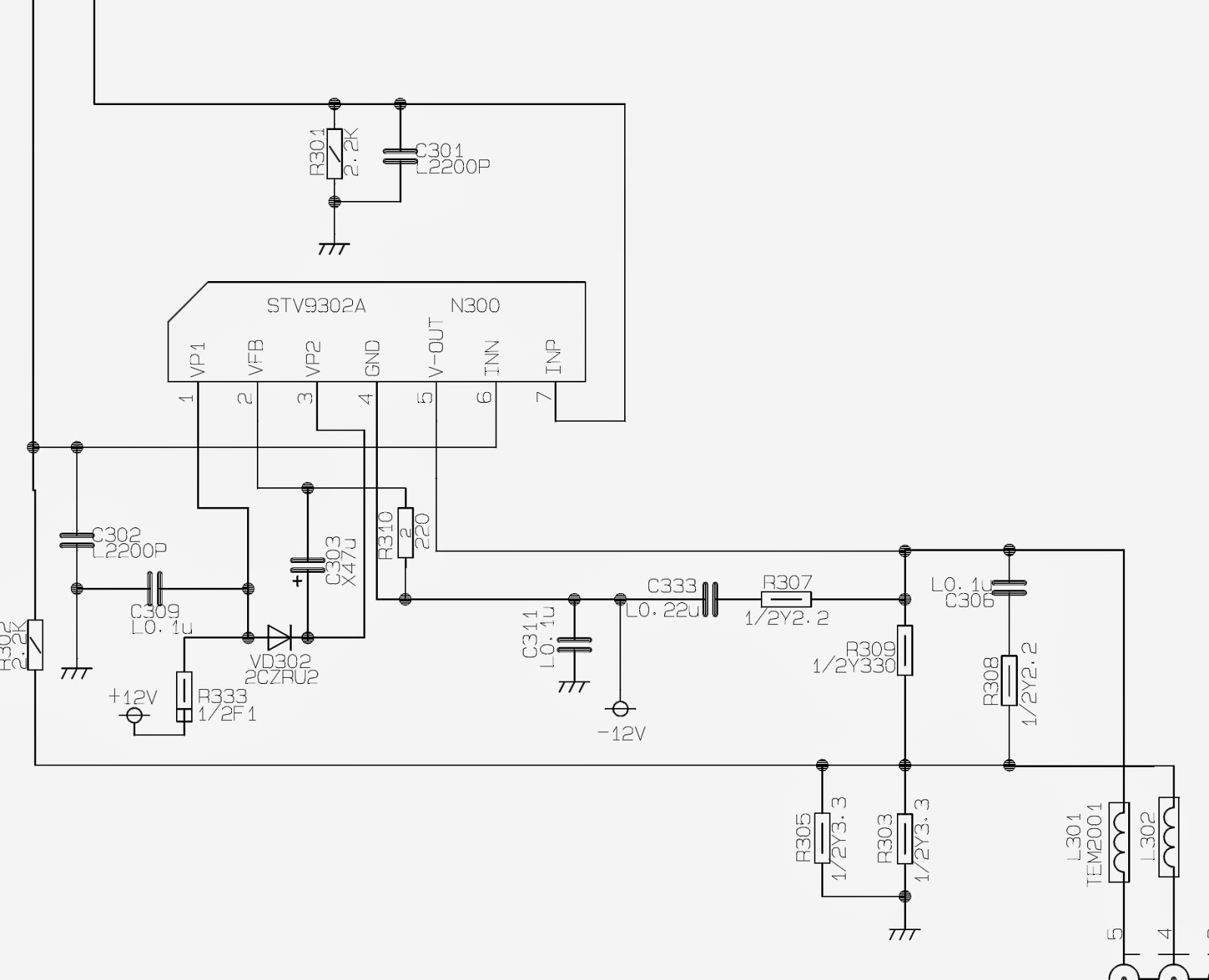 Smps Power Supply Horizontal Output Schematic Circuit