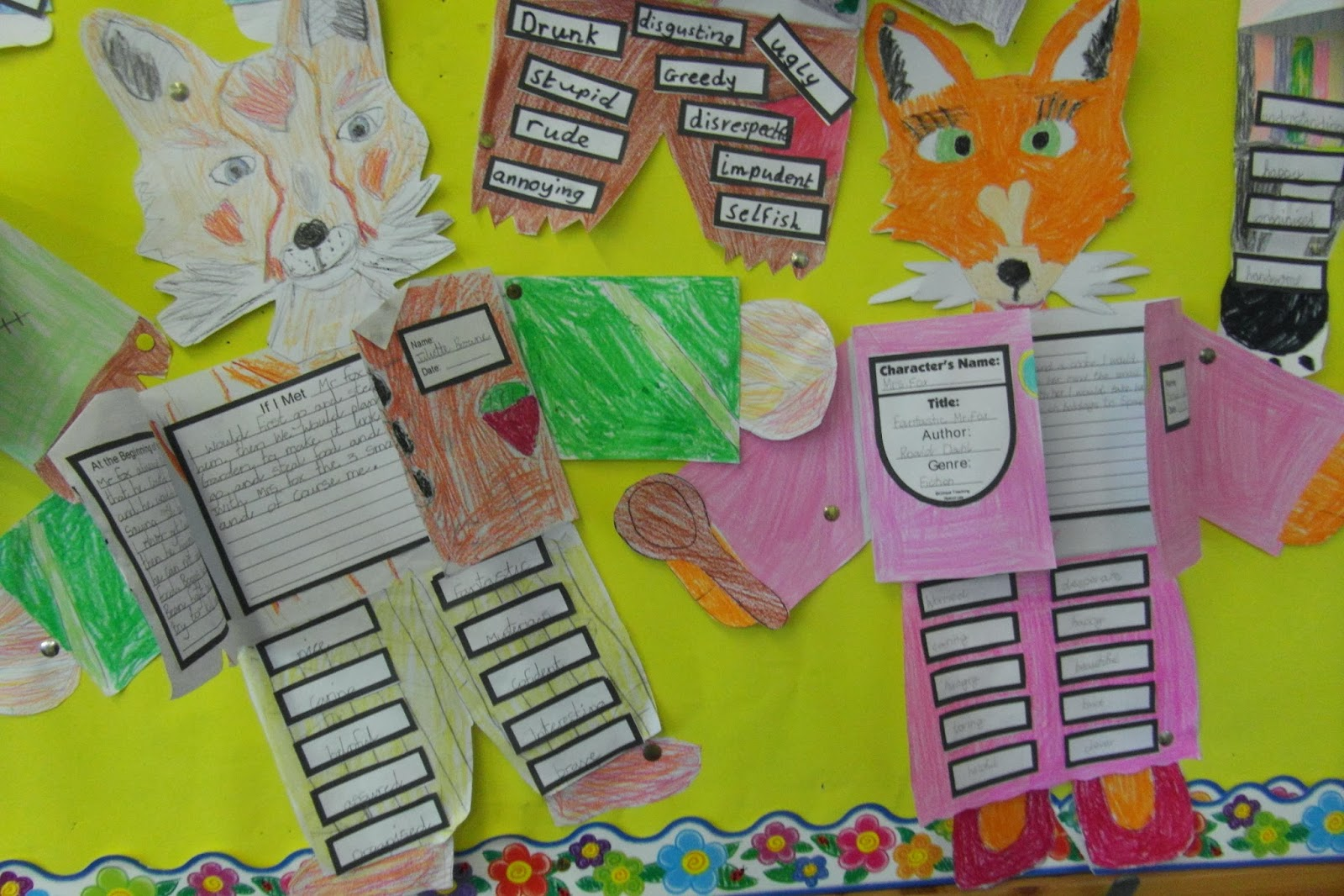 Main character book report projects