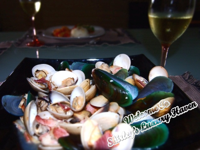 cookforfamily, clams and mussels pot, sauvignon blanc