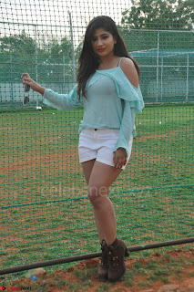 Madhulagna Das looks super cute in White Shorts and Transparent Top 23.JPG