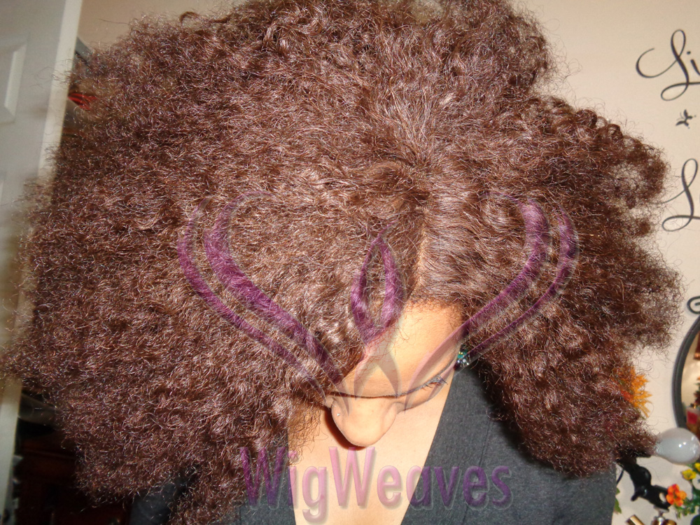 Lace Closure Wig with Kinky Curly Hair, Side Ventilation