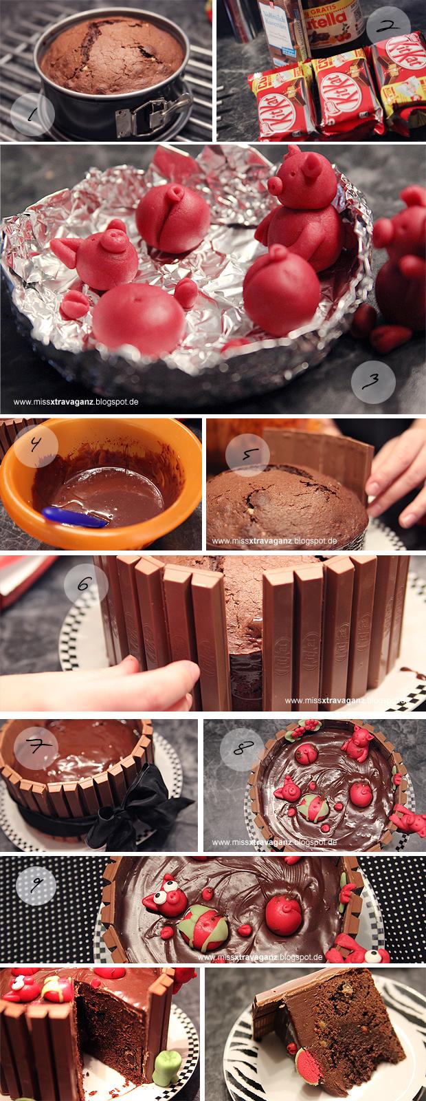 Rezept Schweinchen Im Schokoladen Matsch Bad Kuchen Miss Von