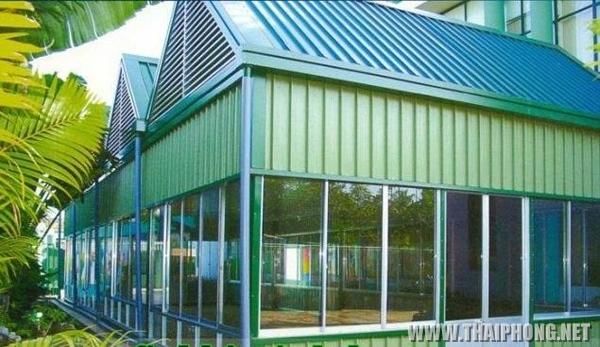 Mái tôn chống nóng nhà hàng văn phòng