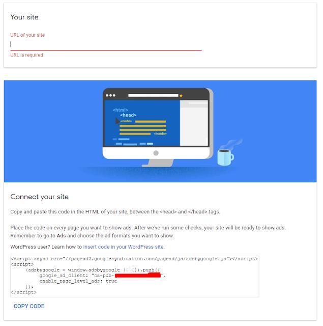 tahap review tambah situs adsense