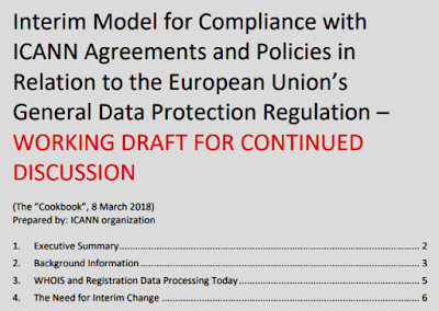 graphic: ICANN Interim Model for Compliance with EU GDPR