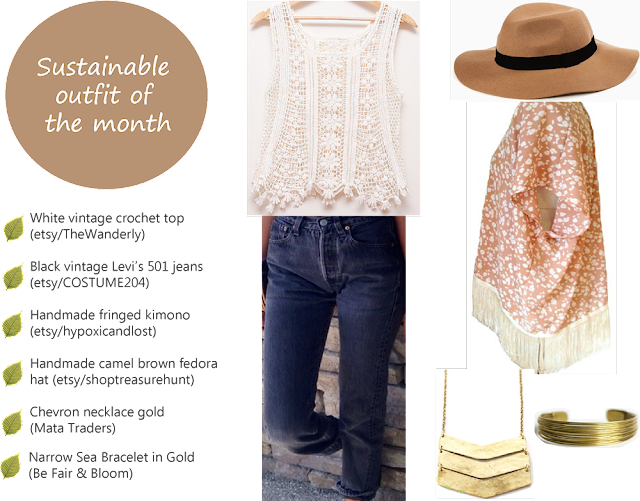 Sustainable outfit of the month: The Vintage Boho Chic