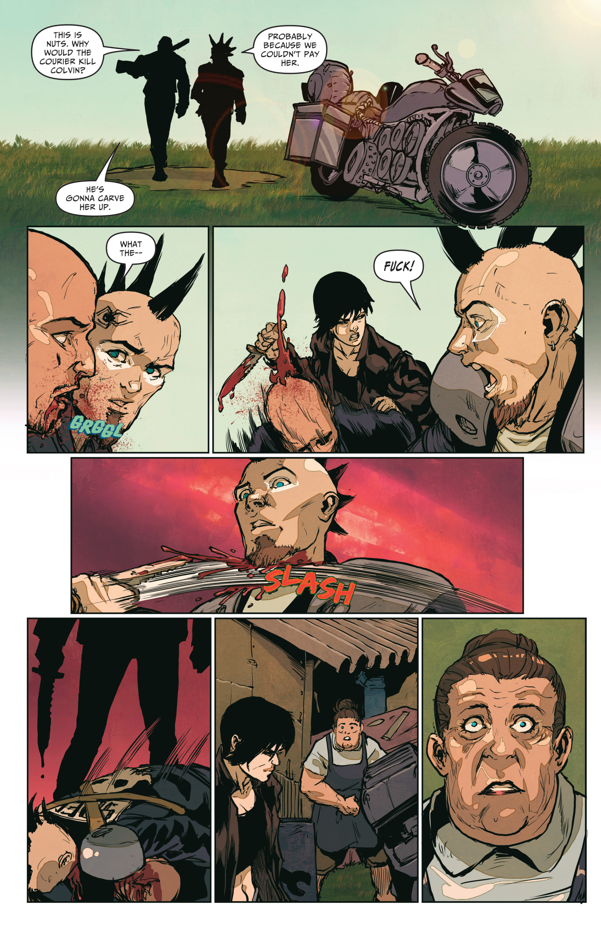 Read online The Courier: From the Ashes comic -  Issue #3 - 13