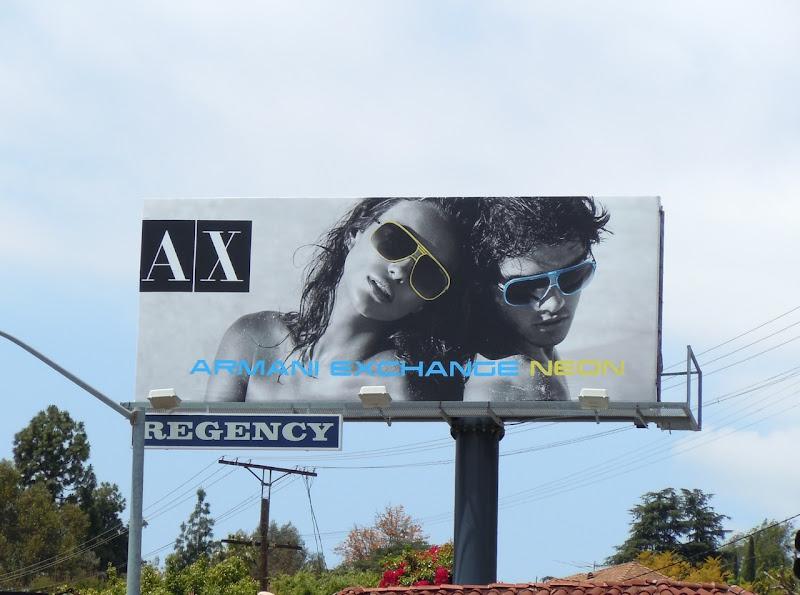 AX Neon sunglasses billboard