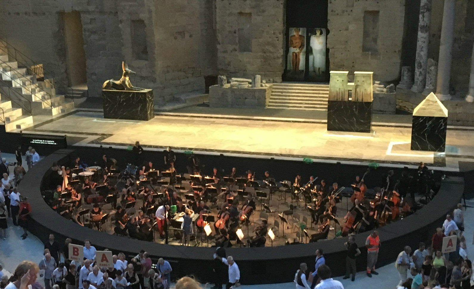 Stage in Orange before Aida