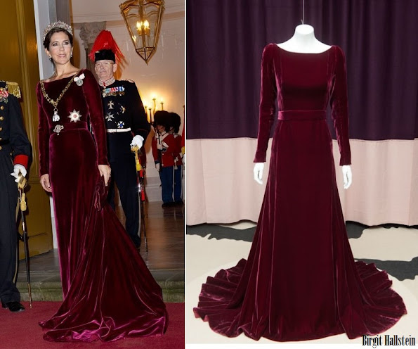Crown Princess Mary wore Birgit Hallstein gown