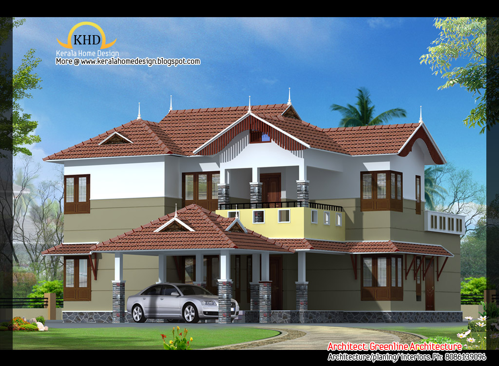 Beautiful Front Elevation Of Kerala Houses : Beautiful villa elevations kerala home design and
